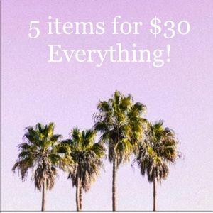 Everything 5/$30